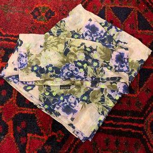 H & M Divided Floral Blanket Scarf
